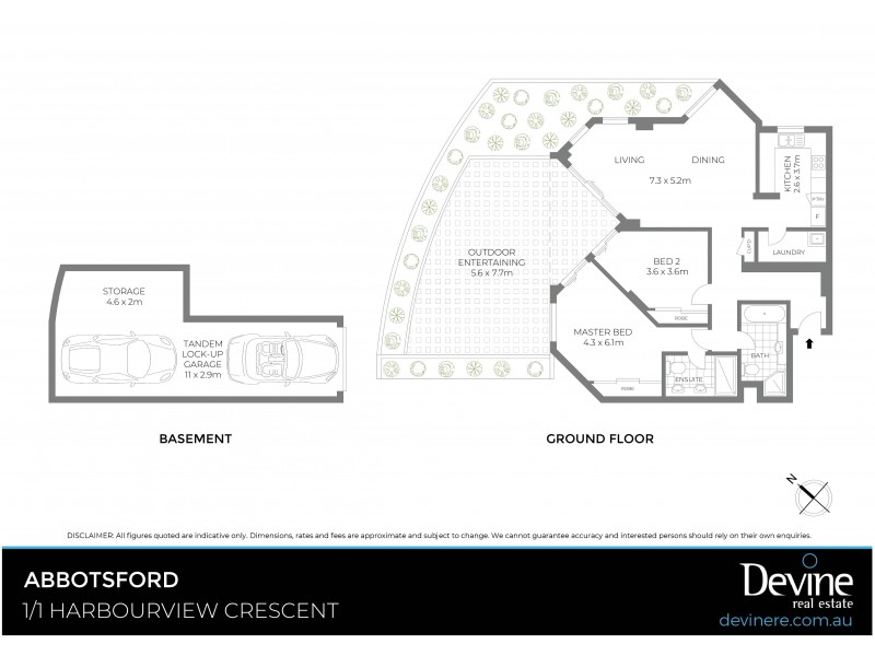 1/1 Harbourview Crescent, Abbotsford NSW 2046 Floorplan