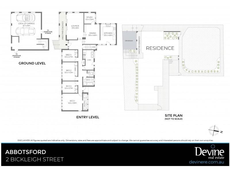 2 Bickleigh Street, Abbotsford NSW 2046 Floorplan