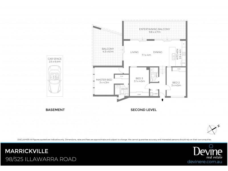 98/525 Illawarra Road, Marrickville NSW 2204 Floorplan