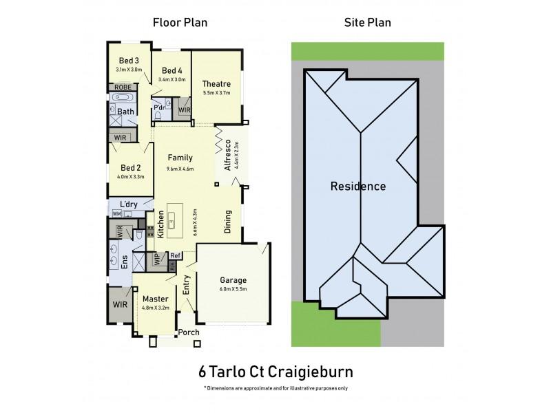6 Tarlo Court, Craigieburn VIC 3064 Floorplan