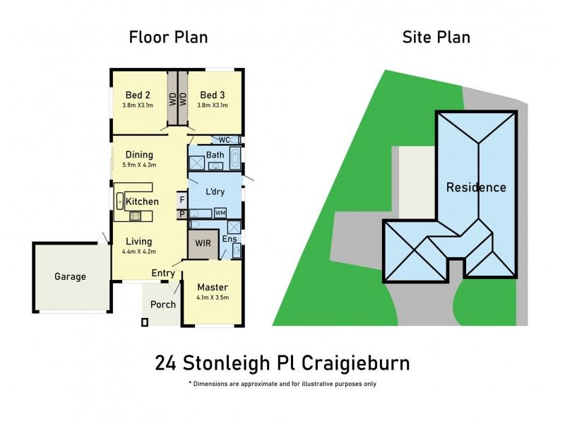 24 Stoneleigh Place, Craigieburn VIC 3064 Floorplan