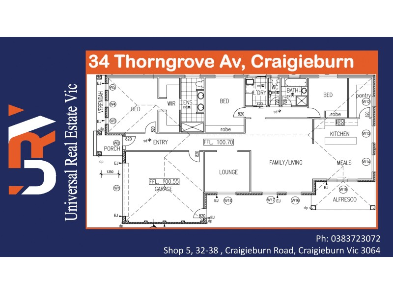 34 Thorngrove Avenue, Craigieburn VIC 3064 Floorplan