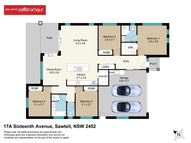 17A Sixteenth Avenue, Sawtell NSW 2452 Floorplan