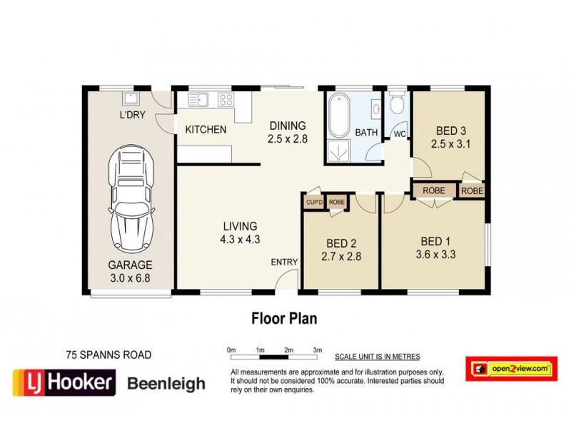 75 Spanns Road, Beenleigh QLD 4207 Floorplan