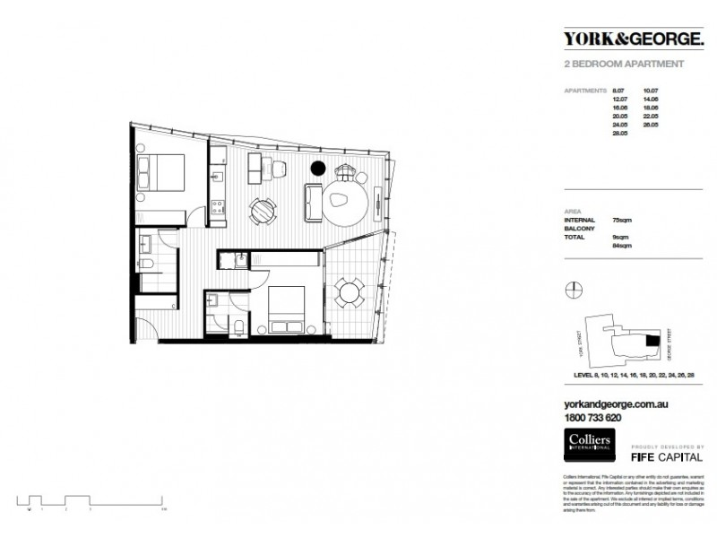 2405/38 York Street, Sydney NSW 2000 Floorplan