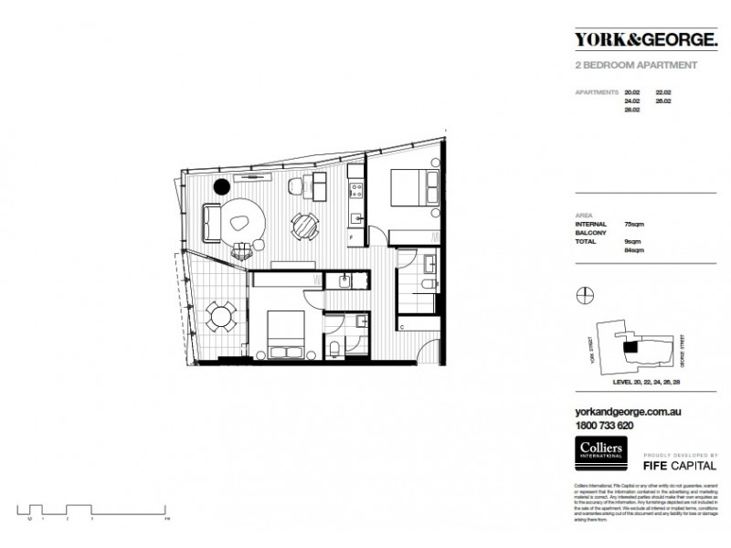 2202/38 York Street, Sydney NSW 2000 Floorplan