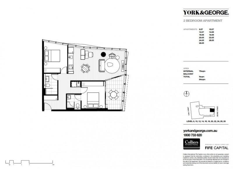 2605 38 York Street, Sydney NSW 2000 Floorplan
