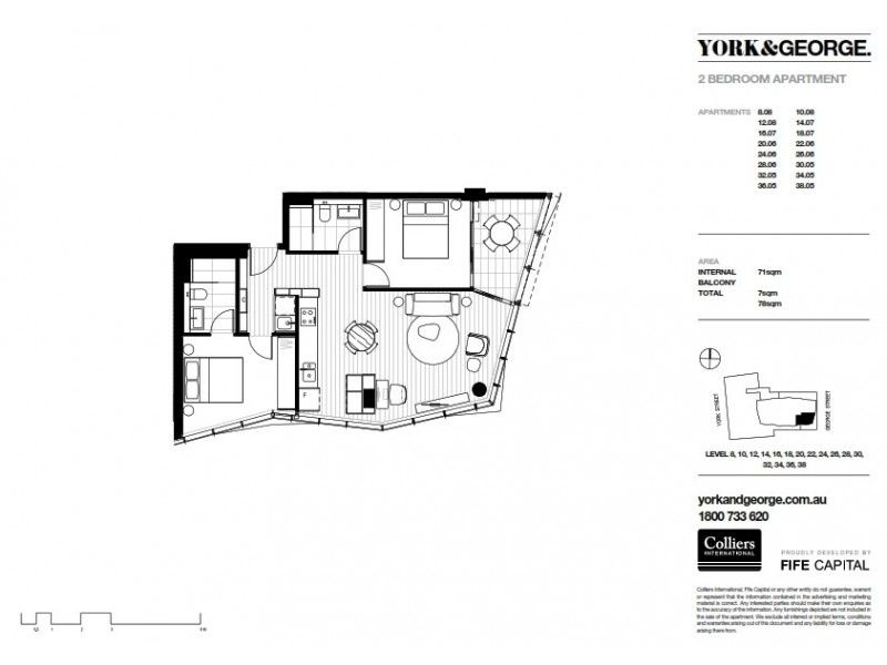 3805/38 York Street, Sydney NSW 2000 Floorplan