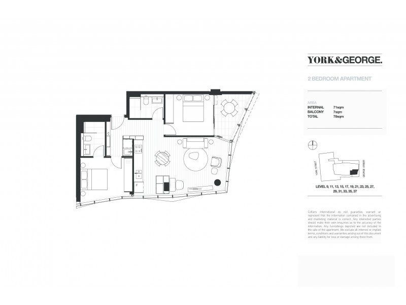 3705/38 York Street, Sydney NSW 2000 Floorplan