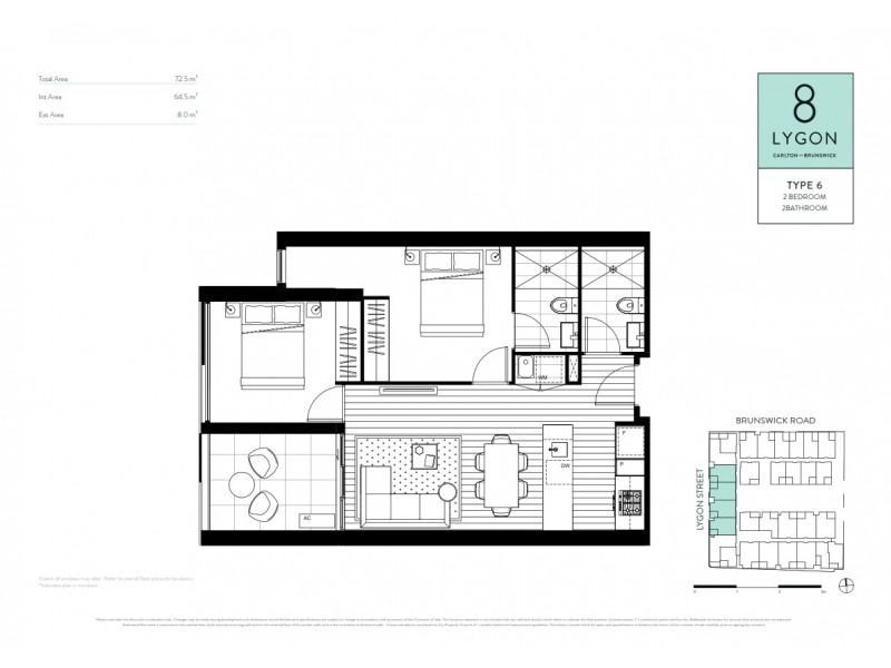 105/8 Lygon Street, Brunswick East VIC 3057 Floorplan