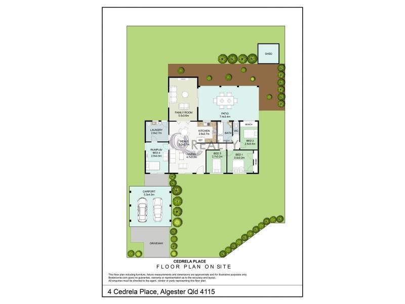 4 Cedrela Place, Algester QLD 4115 Floorplan