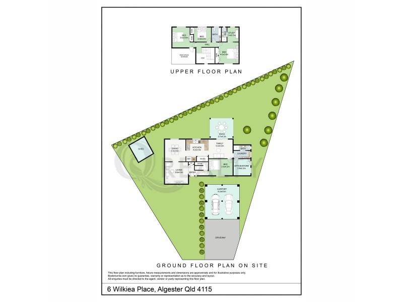 6 Wilkiea Place, Algester QLD 4115 Floorplan