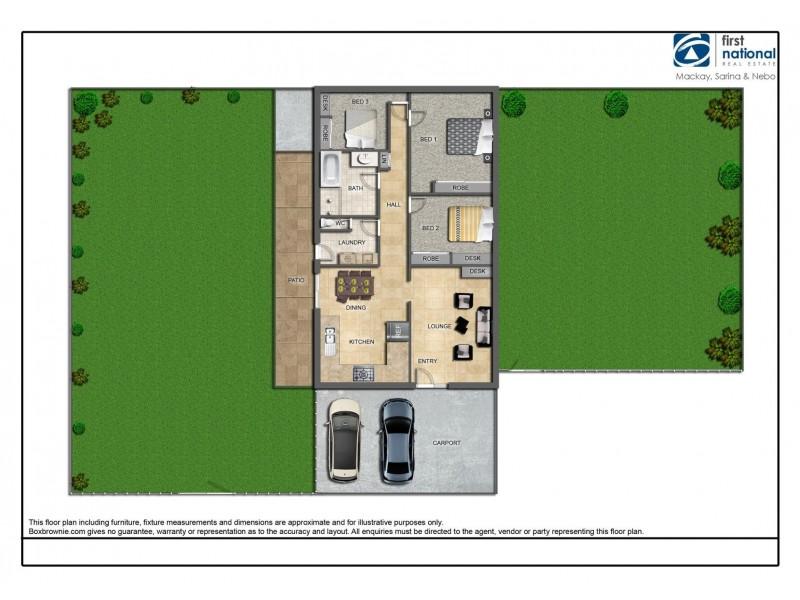 45 Mansfield Drive, Beaconsfield QLD 4740 Floorplan