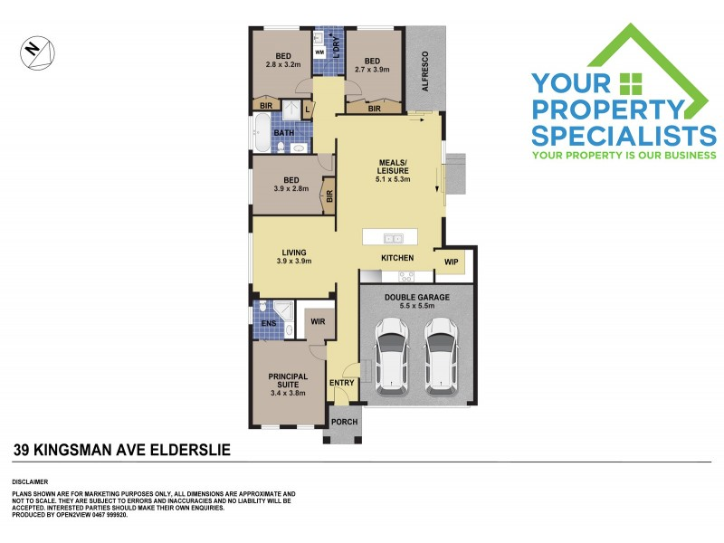 39 Kingsman Avenue, Elderslie NSW 2570 Floorplan