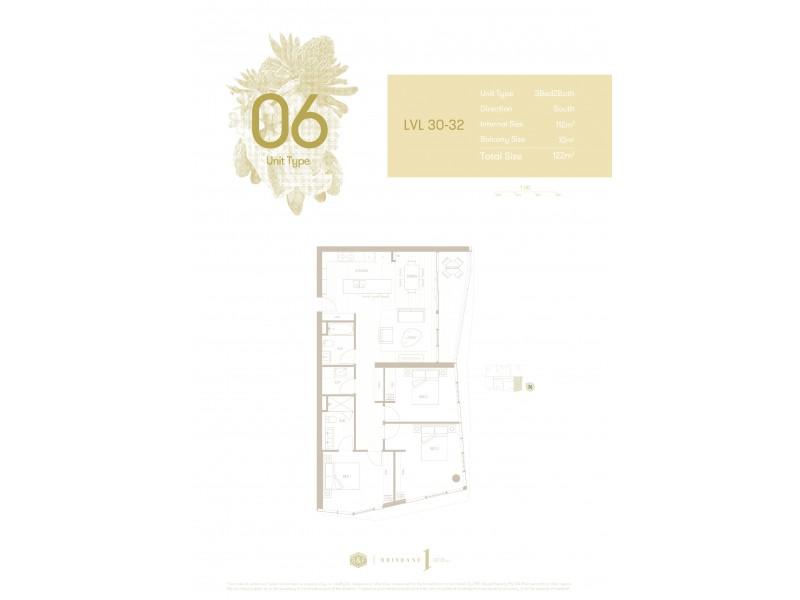 1 Cordelia Street, South Brisbane QLD 4101 Floorplan