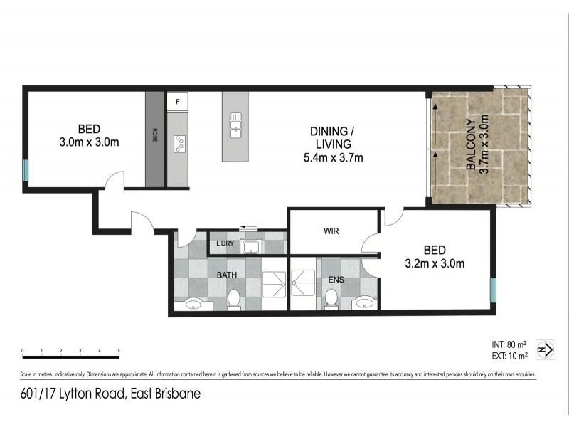 601/11-17 LYTTON ROAD, East Brisbane QLD 4169 Floorplan
