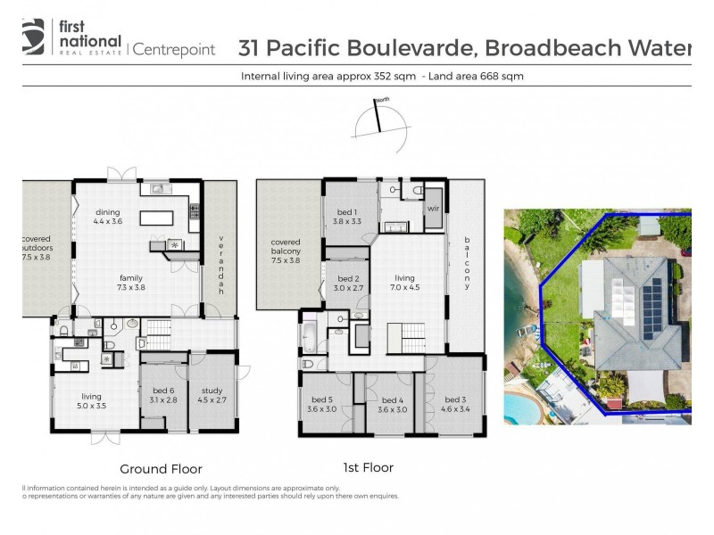 31 Pacific Boulevard, Broadbeach Waters QLD 4218 Floorplan
