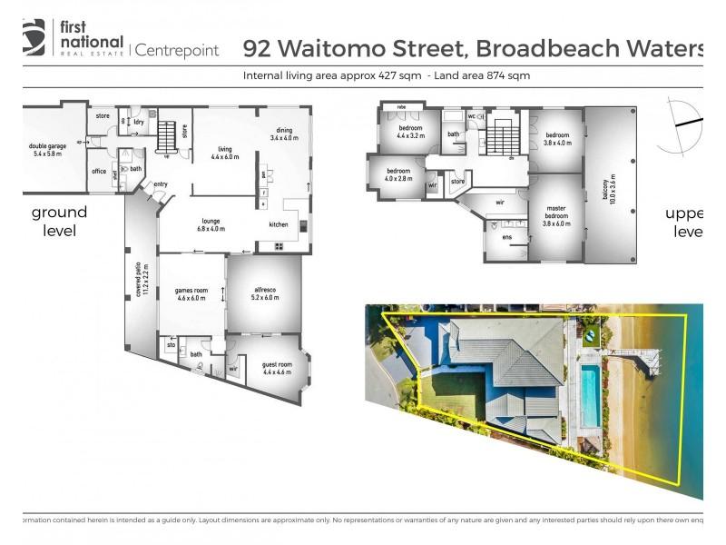 92 Waitomo Street, Broadbeach Waters QLD 4218 Floorplan
