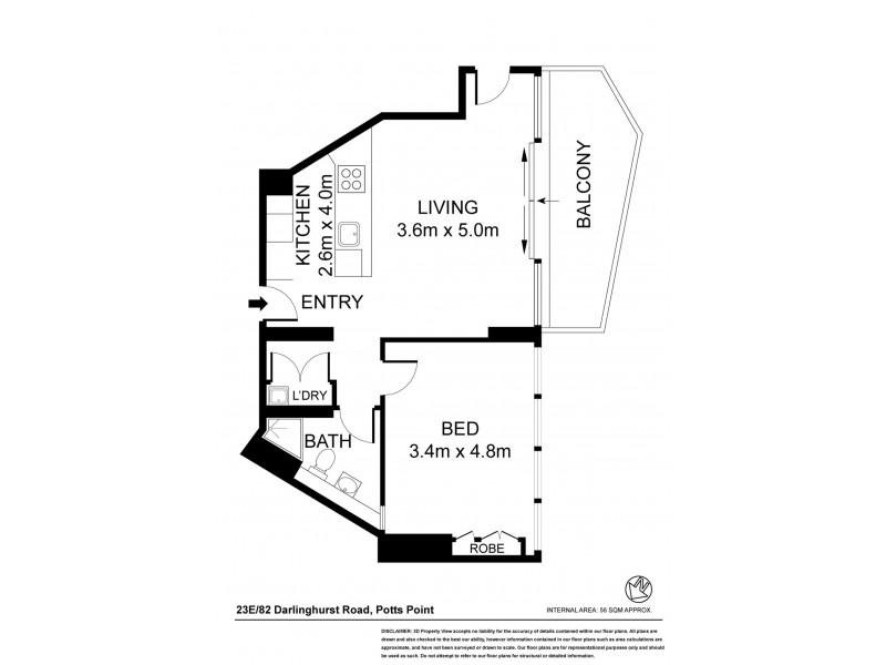23E 82 Darlinghurst Road, Potts Point NSW 2011 Floorplan