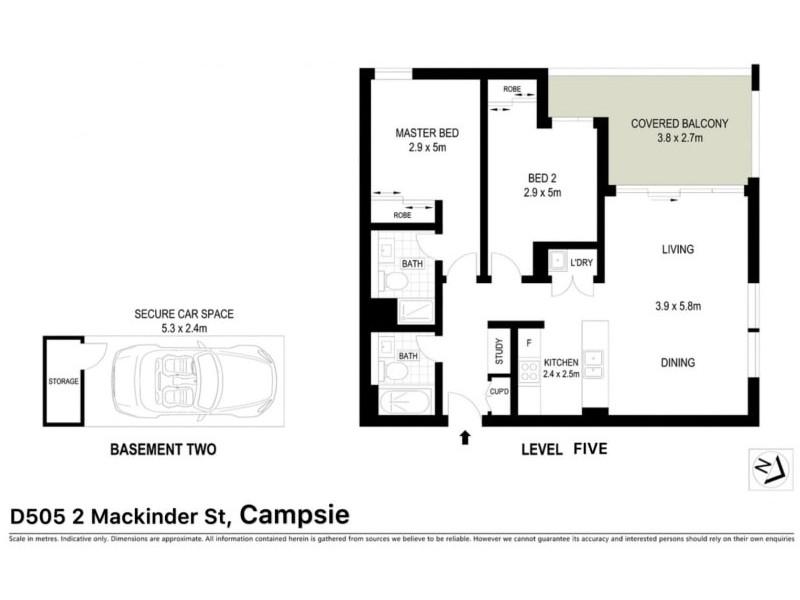 D505/2 Mackinder Street, Campsie NSW 2194 Floorplan