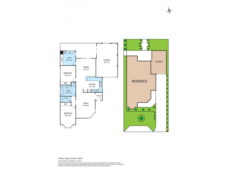 6 Rees Close, Drouin VIC 3818 Floorplan