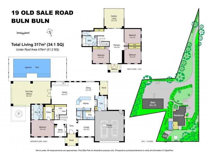 19 Old Sale Road, Buln Buln VIC 3821 Floorplan