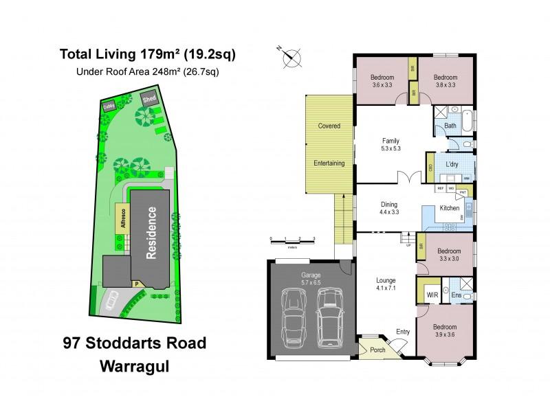 97 Stoddarts Road, Warragul VIC 3820 Floorplan