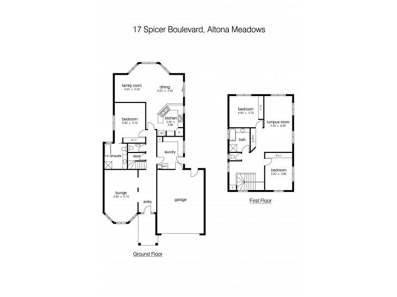 17 Spicer Boulevard, Altona Meadows VIC 3028 Floorplan