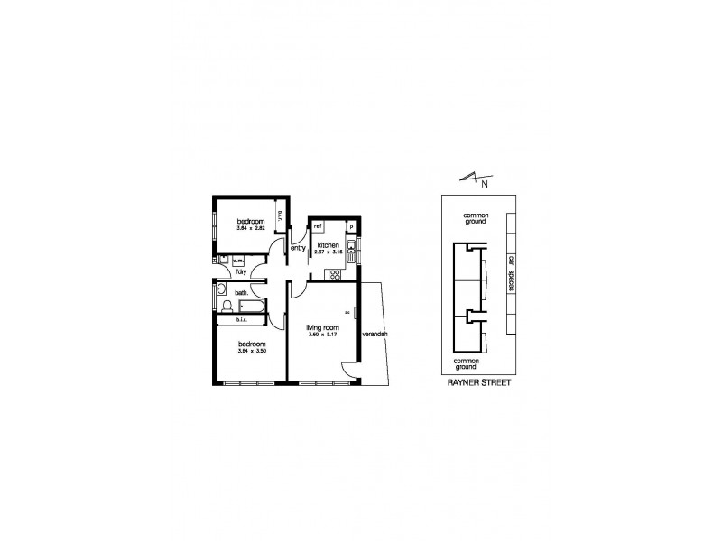1/56 Rayner Street, Altona VIC 3018 Floorplan