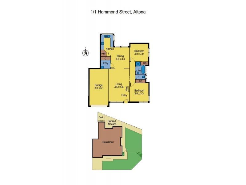 1/1 Hammond Street, Altona VIC 3018 Floorplan