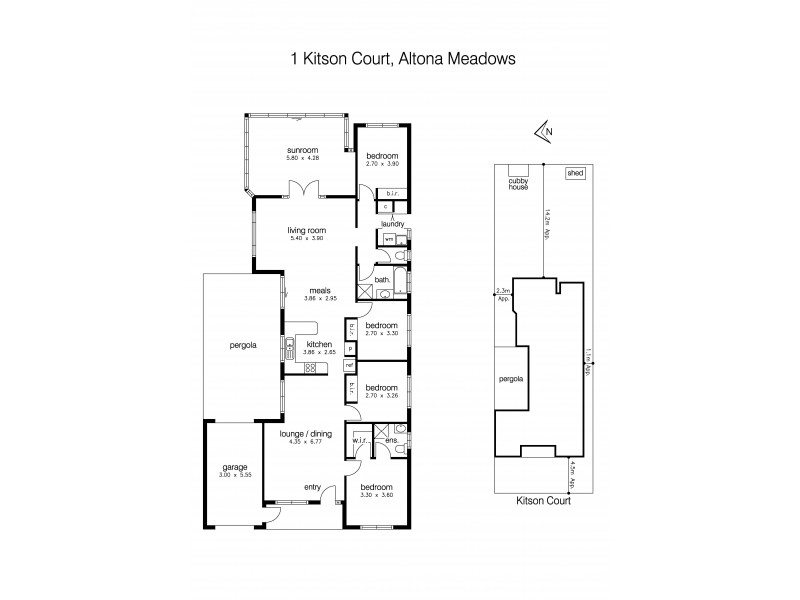 1 Kitson Court, Altona Meadows VIC 3028 Floorplan