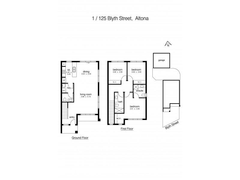 1/125 Blyth Street, Altona VIC 3018 Floorplan