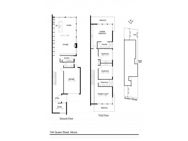 74a Queen Street, Altona VIC 3018 Floorplan