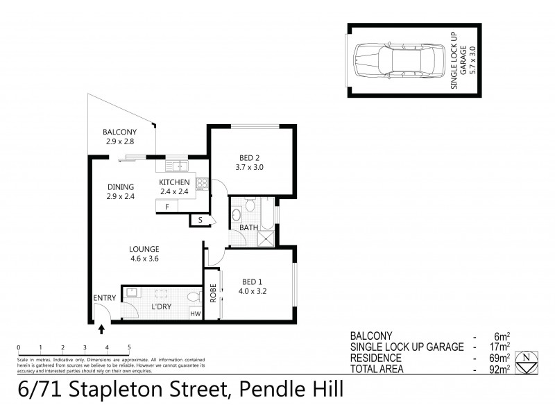 6/71-73 Stapleton Street, Pendle Hill NSW 2145 Floorplan
