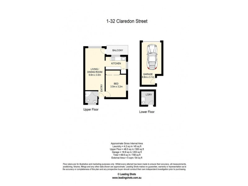 1/32 CLARENDON STREET, East Brisbane QLD 4169 Floorplan