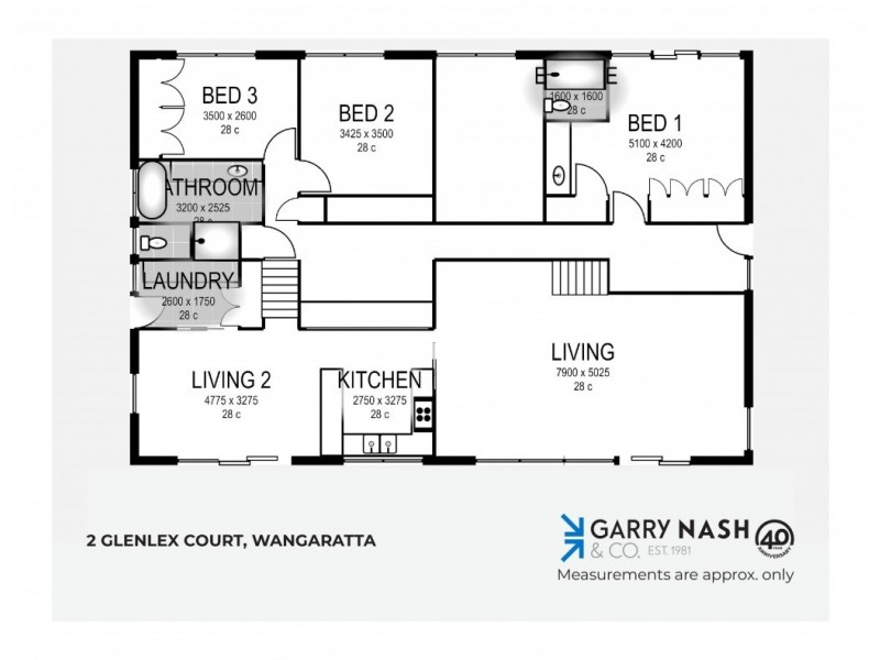 2 Glenlex Court, Wangaratta VIC 3677 Floorplan