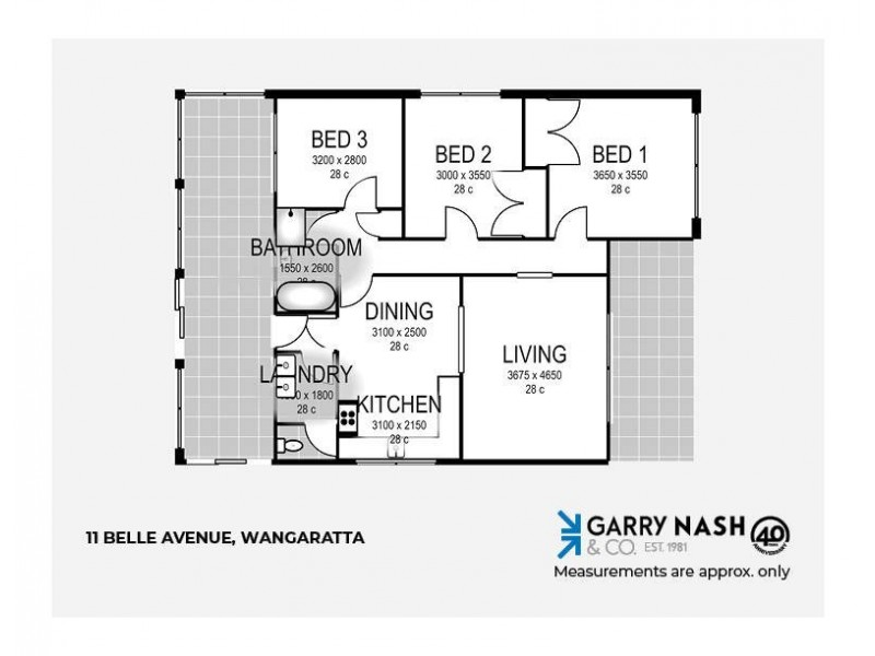 11 Belle Avenue, Wangaratta VIC 3677 Floorplan