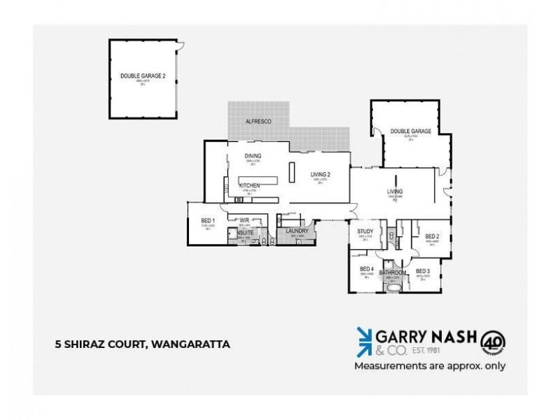 5 Shiraz Court, Wangaratta VIC 3677 Floorplan