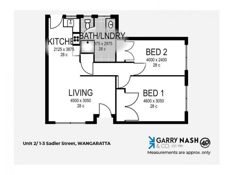 2/1-3 Sadler Street, Wangaratta VIC 3677 Floorplan