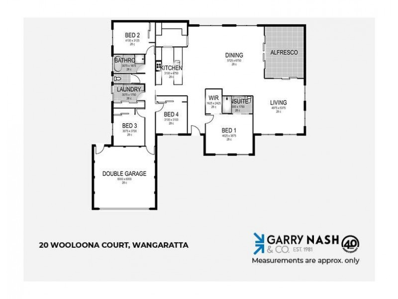 20 Wooloona Court, Wangaratta VIC 3677 Floorplan