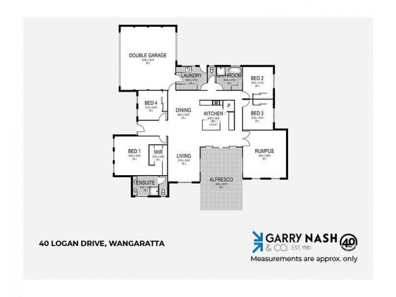 40 Logan Drive, Wangaratta VIC 3677 Floorplan