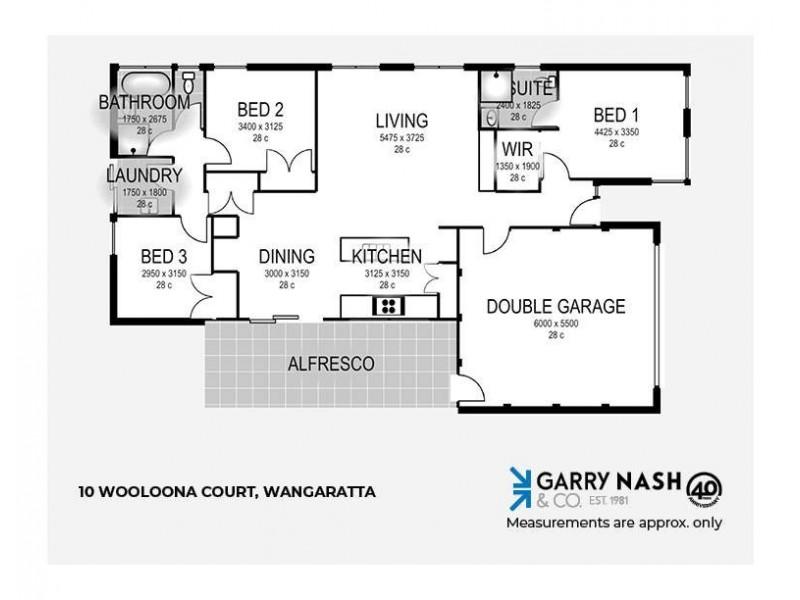 10 Wooloona Court, Wangaratta VIC 3677 Floorplan