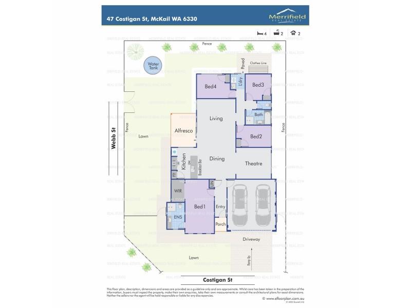 47 Costigan Street, Mckail WA 6330 Floorplan