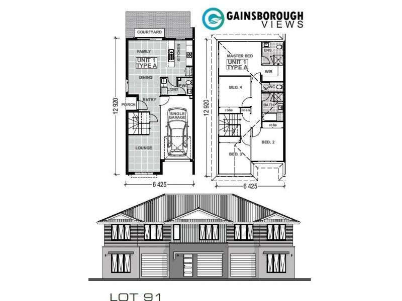91/370 Gainsborough Drive, Pimpama QLD 4209 Floorplan
