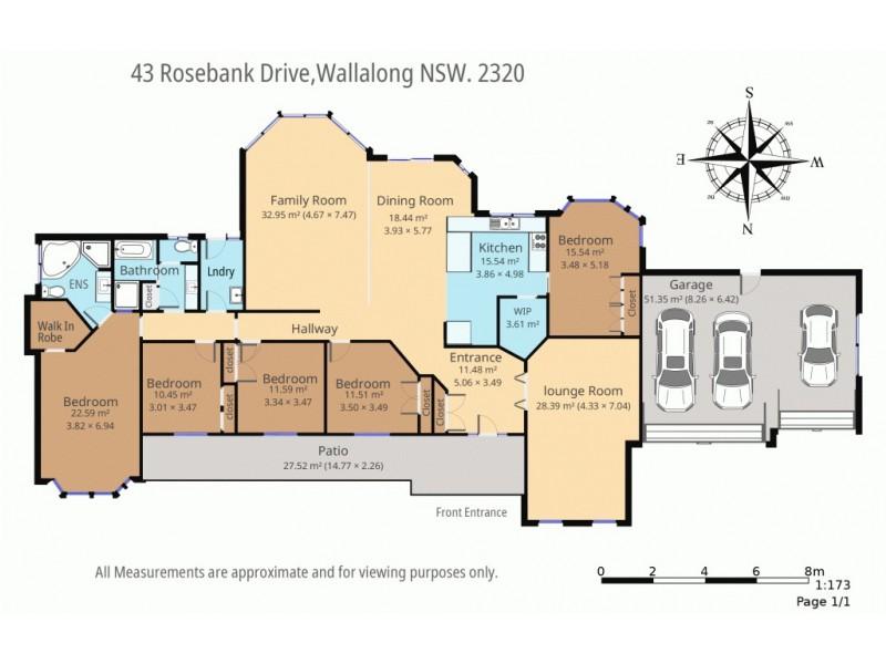 43 Rosebank Drive, Wallalong NSW 2320 Floorplan