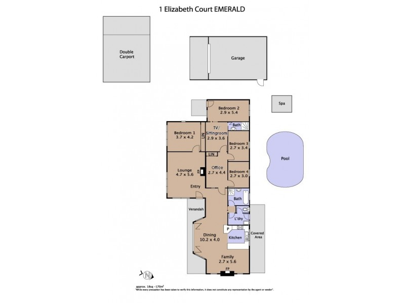 1 Elizabeth Court, Emerald VIC 3782 Floorplan