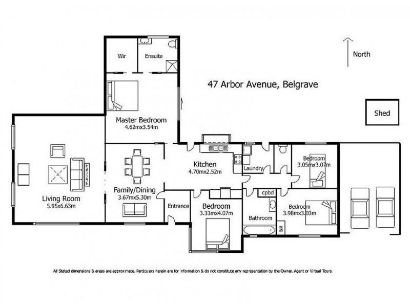 47 Arbor Avenue, Belgrave VIC 3160 Floorplan