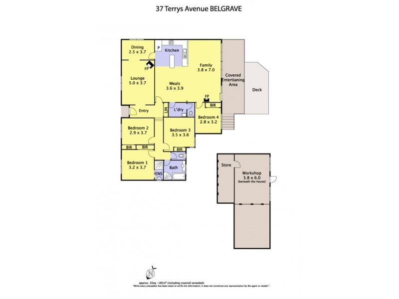 37 Terrys Avenue, Belgrave VIC 3160 Floorplan