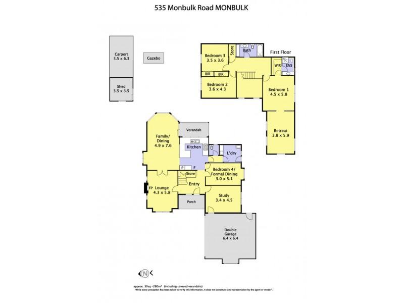 535 Monbulk Road, Monbulk VIC 3793 Floorplan