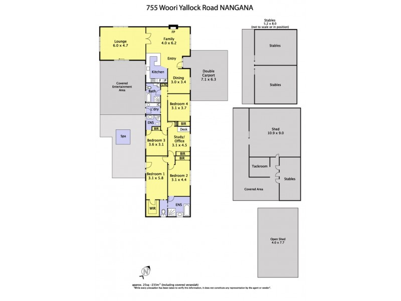 755 Woori Yallock Road, Nangana VIC 3781 Floorplan